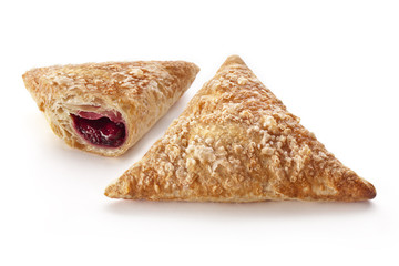 Puff Cherry Turnovers on white
