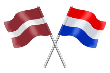 Flags : Latvia and the Netherlands