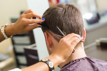 Beauty, hairstyle. Hairdresser salon