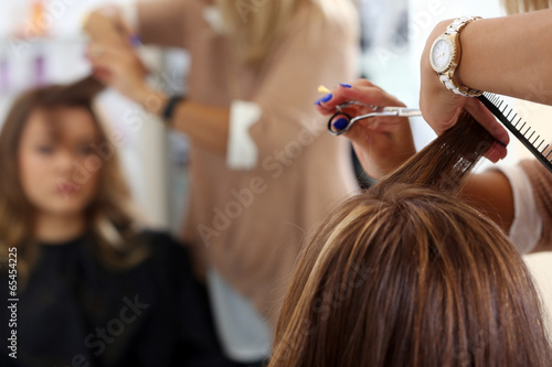 canvas print picture Beauty, hairstyle. Hairdresser salon