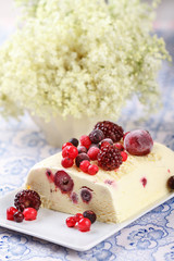 Summer fruits ice cream