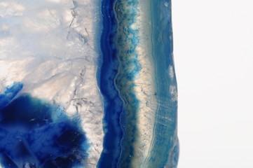 Macro of blue agate stone