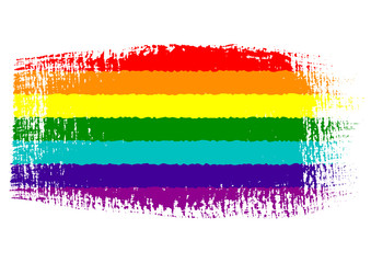 brushstroke flag Gay