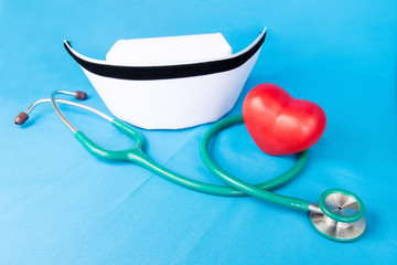 Stethoscope and nurse hat