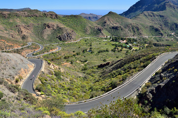 Serpentine road, Gran Canaria
