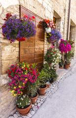 Ingresso di casa con fiori - HDR
