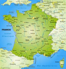 Frankreich mit Nachbarländern