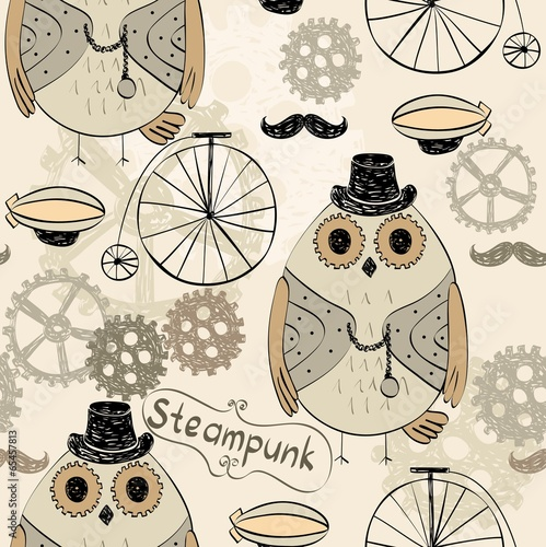 steampunk owl - 65457813