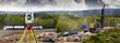 Leinwandbild Motiv road-works, surveying and rock-blasting industry