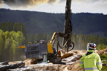 surveyor, road-works and rock-blasting industry