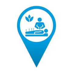 Icono localizacion simbolo acupuntura