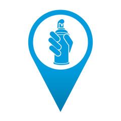 Icono localizacion simbolo aerosol