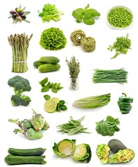 Collage de alimentos vegetales