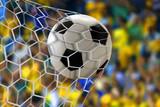 Naklejka Amazing soccer goal