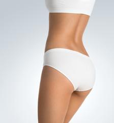 Beutiful female body with copy space