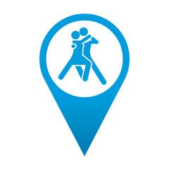 Icono localizacion simbolo bailarines