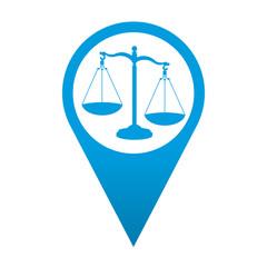 Icono localizacion simbolo balanza de justicia