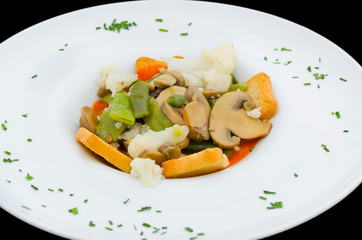 Spring vegetable stew.