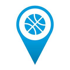 Icono localizacion simbolo baloncesto