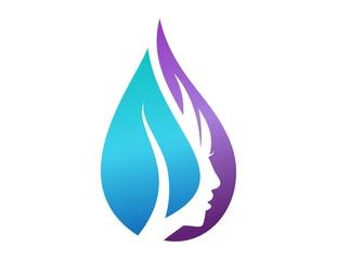 logo female symbol girl icon woman silhouette beauty