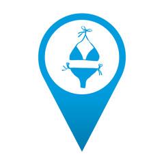 Icono localizacion simbolo biquini