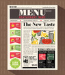 Restaurant Menu Design Template in Newspaper style - 65459433