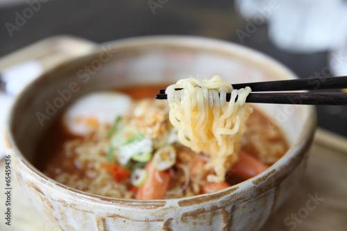 Plagát, Obraz Spicy Noodle with egg