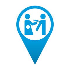 Icono localizacion simbolo vacuna
