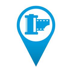 Icono localizacion simbolo carrete de fotos