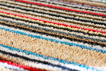 Carpet in colorful stripes