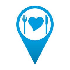 Icono localizacion simbolo comida sana