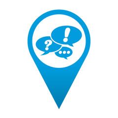 Icono localizacion simbolo red social