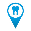 Icono localizacion simbolo clinica dental