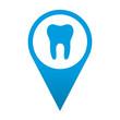 Icono localizacion simbolo clinica dental