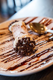 Chocolate Sauce and Chips on Cannoli