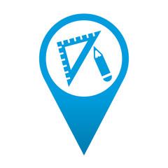 Icono localizacion simbolo dibujo tecnico