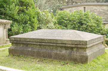 Shelley and Wollstonecraft grave, Bournemouth