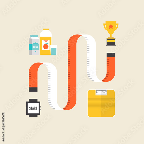 Weight loss flat illustration concept