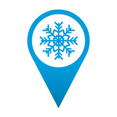 Icono localizacion simbolo frio
