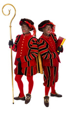 two zwarte pieten (black pete)