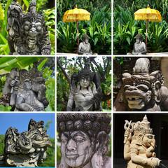 Statues et Ombrelles à Bali