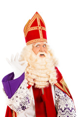 Sinterklaas okay sign on white background