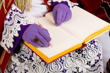 Sinterklaas with empty book