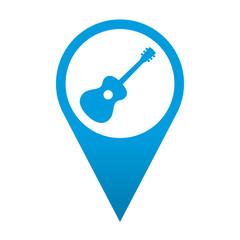 Icono localizacion simbolo guitarra