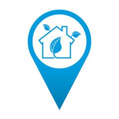 Icono localizacion simbolo casa ecologica