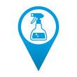 Icono localizacion simbolo pulverizador