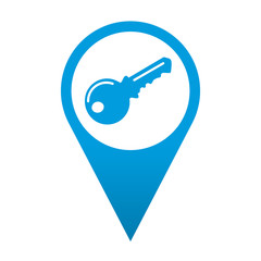 Icono localizacion simbolo llave