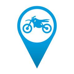 Icono localizacion simbolo motocross