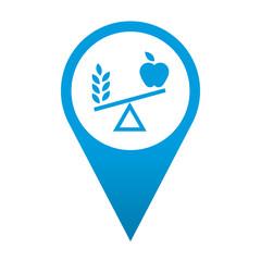 Icono localizacion simbolo nutricion