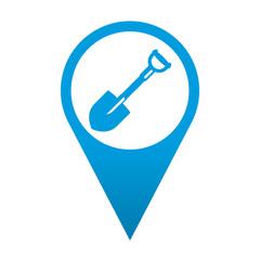 Icono localizacion simbolo pala